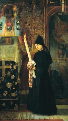 nikolai_bruni-candle_bearer_in_a_convent_1891